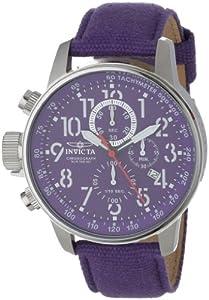 Reloj Invicta 11522 de cuarzo para hombre con correa de nylon, color morado de Invicta