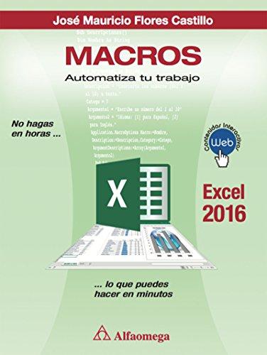 Libro macros Excel 2016