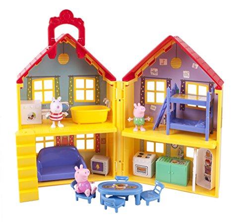 etagenbett haus Peppa Wutz Peppa's Familienhaus 92620 - Spielset mit 15 Zubehörteilen zum kreativen Spielen sowie exklusiven Peppa, Schorsch und Luzie Locke Spielfiguren, ideal für Kinder ab 2 Jahren