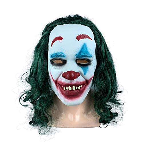 Kbsin212 Halloween Clown Maske, Herren Grusel Clown Maske,Halloween Joker Maske Halloween Latex Clown Maske, Halloween Kostüm Party - Weibliche Für Erwachsene Clown Kostüm