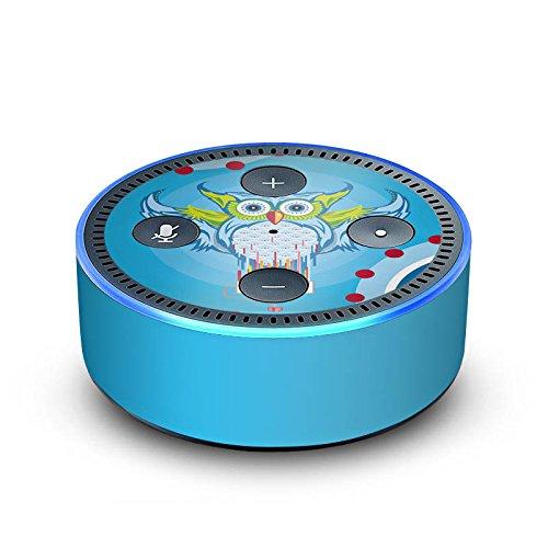 DeinDesign Amazon Echo Dot 2.Generation Folie Skin Sticker aus Vinyl-Folie Owl Eule Bunt