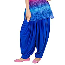 Pietra Royal Blue Patiala dhoti salwar