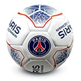 Paris Saint Germain FC Offical White Prism Football (Size 5)
