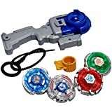 Toy Vala 4 In 1 4D/5D System Metal Fighters Fury With Metal Fight Ring And Handle Toy - Multicolor (Color May Vary)