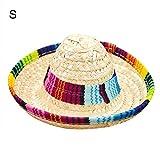 pittospwer Haustier Mini Sombrero Far West Mexikanischer Fantasie Hut Funny Dress Kostüm Kostüm