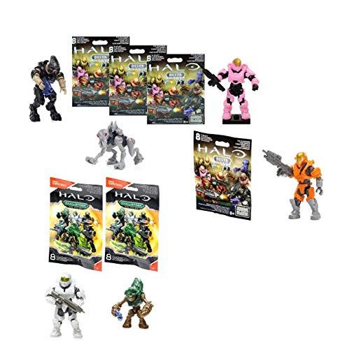 Halo 6x Mega Bloks/Mega Construx Figures 4x Delta Series, 2x Challenger  Series (Random Blind Bags)