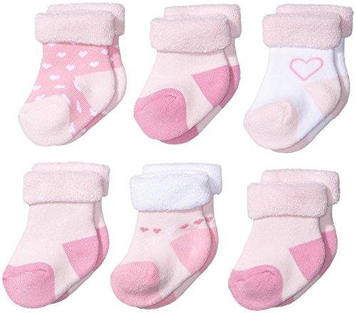 Twins Baby - Mädchen Erstlingssöckchen im 6er Pack, Gr. One size, Gr. One size, Rosa (rosa 116)