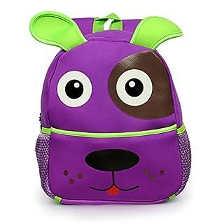 Sumnacon Children Toddler Kid's Backpack Zoo Animal Cartoon Pre School Backpack Purple Puppy