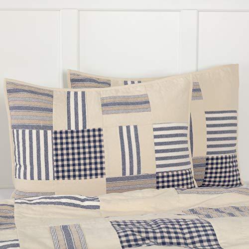Piper Classics Doylestown Bettwäsche- und Duschvorhang, Blau Landhausstil Standard Sham blau -