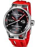 Locman 051100BKFRD0GOR - Orologio da polso uomo, caucciú, colore: rosso