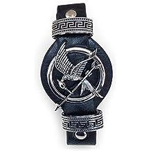 Hunger Games. Sinsajo tono de la plata de la pulsera de la correa. Mockingjay