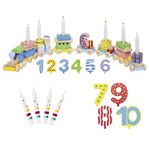 Zahlen 1-10 10er Set Kerzen Susibelle - Die LuLuGoS ()