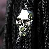 GEZICHTA 100Skelett Totenkopf Paracord Massiv Schlüsselanhänger Messer Parachute Cord Jewelry Bead Charms Anhänger Taschenlampe Armband Zubehör Anhänger