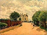 POSTERLOUNGE Forex-Print 130 x 100 cm: Bridge at Hampton Court by Alfred Sisley/akg-images