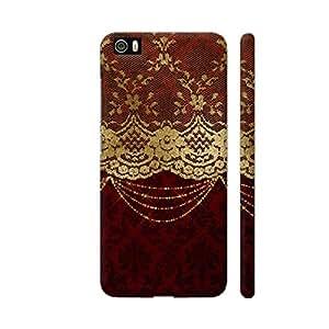 Colorpur Vintage Shabby Chic Luxury Gold Lace On Purple Damask Artwork On Xiaomi Mi 5 Cover (Designer Mobile Back Case) | Artist: UtART