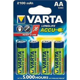 """Varta Akkubatterien """"ready 2 use"""" 56706-101-404 VARTA ACCU-BATT. MIGNON 56706101404-427299"""