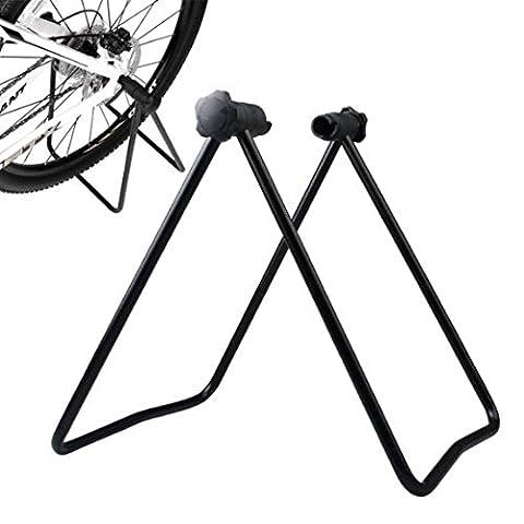 Gearmax® Cycling Bicycle Bike Repair Parking Folding Wheel Stand Kickstand Holder Stay Bike Tools Maintenance (Parcheggio Negozio)
