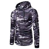 Photo de UFACE Manteau de Camouflage Zip à Capuche pour Homme Sweat-Shirt Outwear Tops Blouse par UFACE