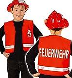 Weste Feuerwehr, Feuerwehrmann Kinder Rot (116)