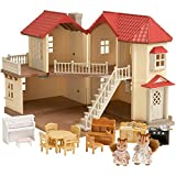 SYLVANIAN FAMILIES- City House with Lights & Furniture Casa de Mini muñecas y Accesorios, (Epoch 2746)