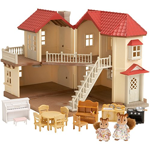 SYLVANIAN FAMILIES City House with Lights & Furniture Casa de Mini muñecas y Accesorios Epoch 2746