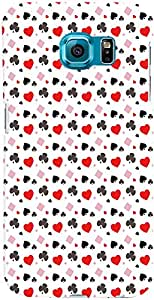 PrintVisa Pattern Card Suits Case Cover for Samsung Galaxy Note 5 Edge