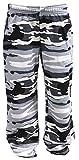 REDRUM Plain Trainingshose Jogginghose Sweatpants Fitness Sport Streetwear (XS, Camo Grey)