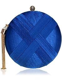 a82389004486d BESTWALED Damen Abendtasche Luxus Webart Clutch Bag Mode Stickerei Bankett  Tasche Diamond Dinner Handtasche Kette…