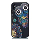 MoEvn Coque iPhone XS Max Silicone Noir, iPhone XS Max Souple Silicone TPU Etui...