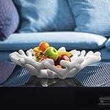CLG-FLY moderno creativo di frutta in ceramica Bowl casa di corallo soggiorno tavolo da caffè decorato ornamenti d'arte,Bianco