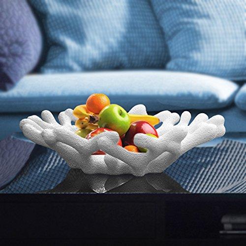 CLG-FLY créatif moderne coupe à fruits en céramique de corail accueil salle de séjour table basse blanc,ornements art décoration