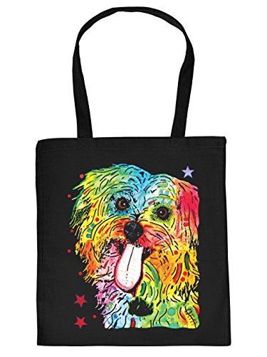 Pop Art Sackerl - Shih Tzu - Stofftasche mit Hunde-Motiv (Pop Art Halloween)