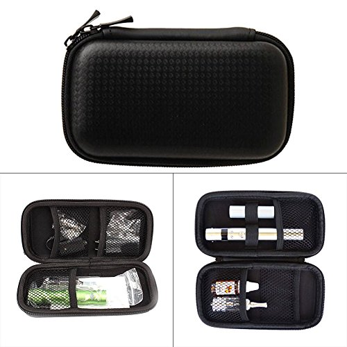 Yeleo Trosetry E Zigarette Tasche, Aufbewahrungsetui Spielraum Tragen Zipper Schutzhülle für E Zigarette und Zubehör Ohne Nikotin (Schwarz)