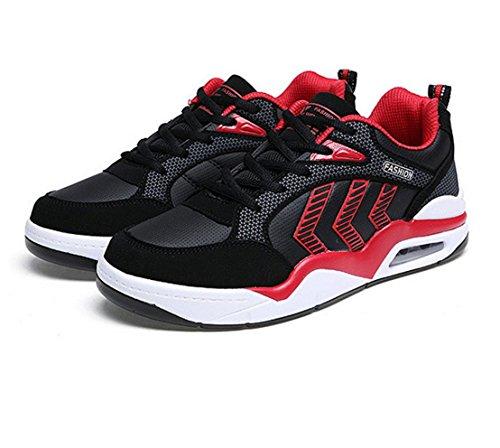 WZG Chaussures de sport pour hommes automne nouvelles chaussures de skateboard amortir les chaussures légères chaussures de course mode casual hommes Red