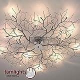 famlights Designer-Deckenleuchte Äste, 1100 mm, chrom | Deckenlampe, modern