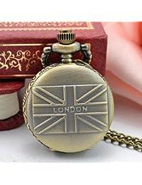 Retro Design Bronze Steampunk Pocket Watch Quartz Pendant Necklace Fob Watches Dec11