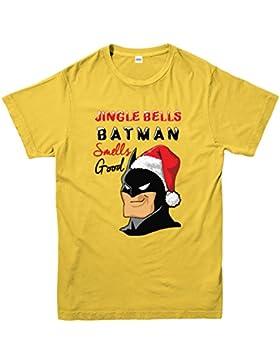 Jingle Bells T-shirt, Batman Smells Good Xmas Adult Top