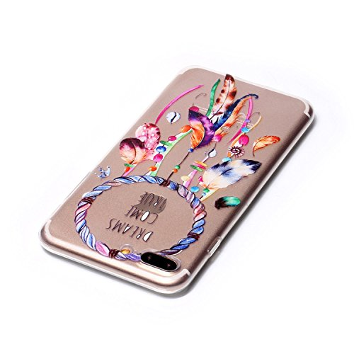 iPhone 7 plus Brillante TPU Bumper Custodia,Ekakashop 5.5 pollici iphone 7 plus Fantasia Vintage Neo Elegante Trasparente Glitter Bling Sparkle Donna Ragazza Oro Solid Color Cover Puro,Sottile Morbida A-Campanula