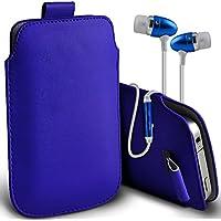 Fone-Case (Blu) Alcatel Dawn 4G alta qualità in pelle PU