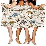 Vintage Gap Dinosaurier Muster Wand Badetuch Erwachsene Mikrofaser Handtuch 78,7x 129,5cm Badelaken
