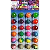 Jiada Colorful Bouncing Balls Stress Reliever - Birthday Return Gift for Kids (Pack of 24)