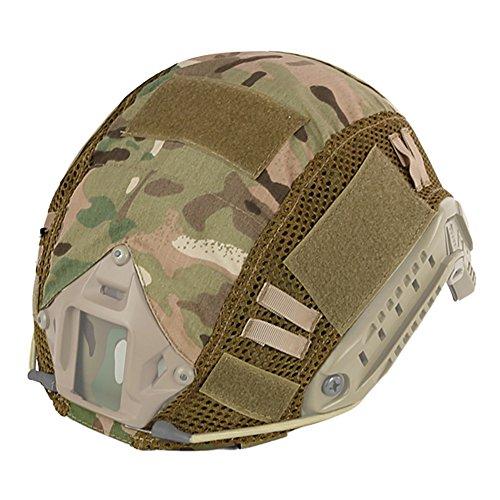 EFINNY Tactical Helmet Cover Casco de Camuflaje Nylon Headwear DIY Ciclismo Shooting Escalada Camping Ropa Deportiva Accesorio