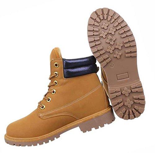 5a0115317084 Damen Boots Schuhe Stiefeletten Mit Schnürung Schwarz Beige 36 37 38 39 40  41 NR 2 ...