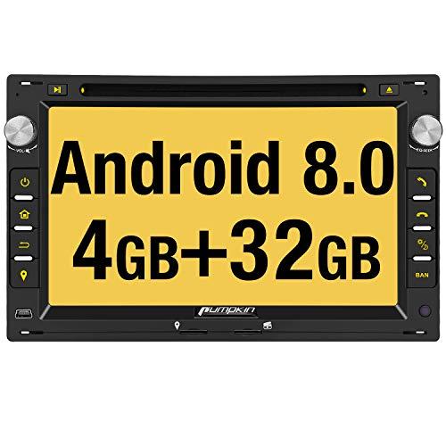 Pumpkin Android 8.0 Autoradio Moniceiver für VW Passat Golf Polo mit Navi Unterstützt Bluetooth DAB + WLAN 4G USB CD DVD Android Auto MicroSD Aux 2 Din 7 Zoll Bildschirm