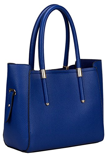 Kukubird Jennie Ecopelle Oro Fibbia Tracolla Handbag Blue