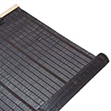 Estores enrollables Cortinas enrollables de la cocina en negro Estilo japonés Bambú Blackout Sombrilla para la puerta del mirador Balcón, 75cm / 90cm / 110cm / 130cm ancho ( Tamaño : W 110×H 160cm )