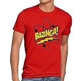 CottonCloud Sheldon Atomo T-shirt da uomo, Dimensione:L;Colore:rosso