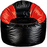 Amazon Brand - Solimo Mudda XXXL Bean Bag Cover Without Beans (Red and Black)