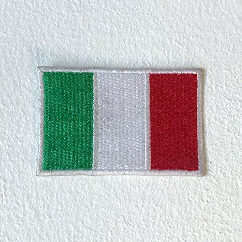 Italian Flag Patches (Aufnäher/Aufbügler/Aufnäher, Motiv: italienische Flagge Motorsports)