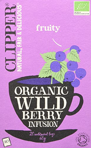 Clipper Organic Wild Berry 20 Tea Bags (Pack of 6)